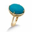 Золотое кольцо с бирюзой SL-0285-475 весом 4.75 г  стоимостью 23000 р.