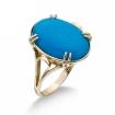Кольцо с голубой бирюзой SLK-2864-501 весом 5 г  стоимостью 32500 р.