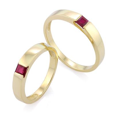 Обручальное кольцо с рубином 5.8 г SL-13801-698